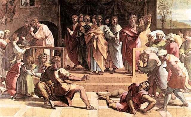 The Death of Ananias by Raffael